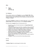 Drug Testing Policy Letter