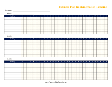 3-Month Business Plan Timeline template