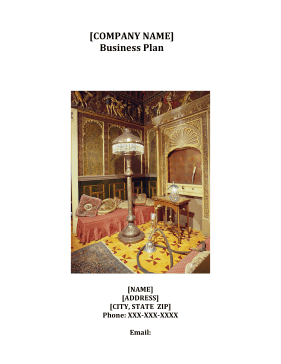 Antiques Dealership Business Plan template