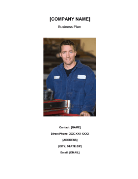 Auto Repairs And Maintenance Business Plan template