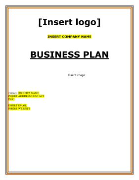 Bar Pub Grill Business Plan - Bar and grill business plan template