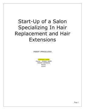 Beauty salon business plan friedricerecipe Image collections