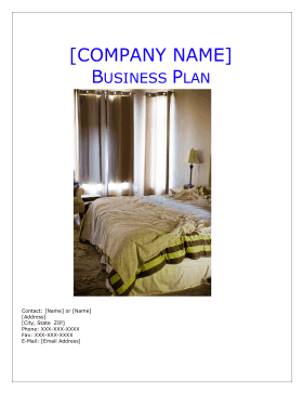 Bed and breakfast business plan accmission Image collections