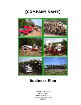 Firewood And Land Clearing Services Business Plan template