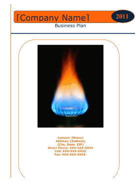 Gas/Energy Company Business Plan template