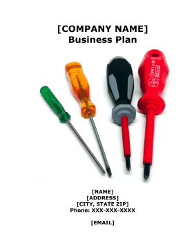 Hardware Store Business Plan template