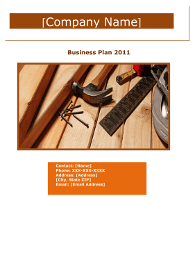home improvement and repair services business plan