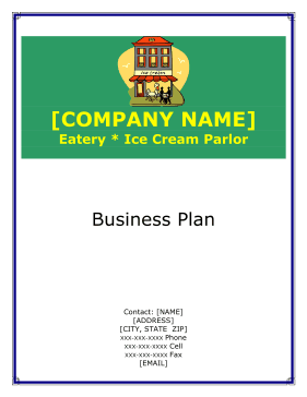 Ice Cream Parlor Business Plan template