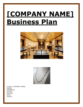 Jewelry Boutique Business Plan template
