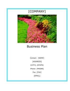 Landscaping Company Business Plan template