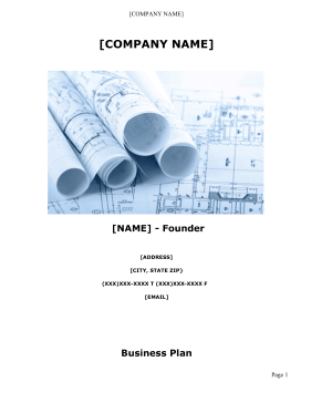 Mental Counseling Business Plan template