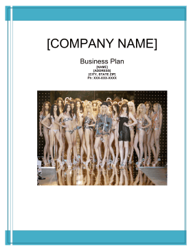 Model And Talent Agency Business Plan - Business plan model template