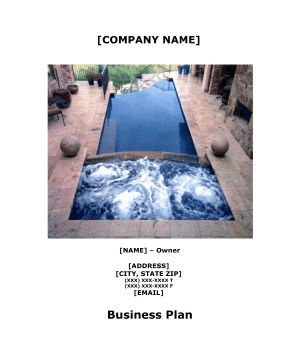 Pool Services Business Plan template
