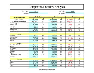Comparative Industry Analysis template